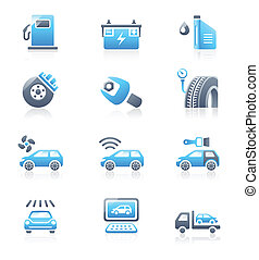 Car service icons | MARINE series - Car care, tuning,...
