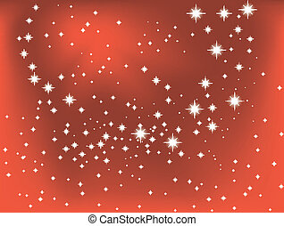 Shining star on a red vector background. eps10
