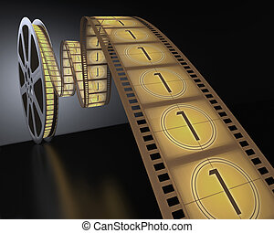 Filmstrip Coundown - Concept of Industry cinematographic.