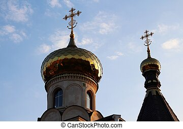Scenic domes with crosses