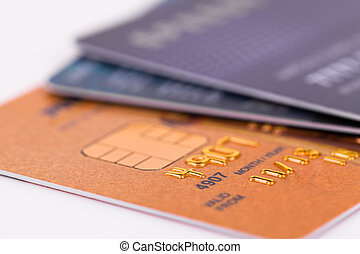 Credit card close up