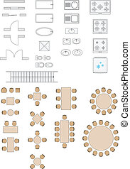 Architecture Signs Plans Icons - Standard Symbols Used In...