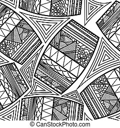 Seamless pattern with ethnic drums