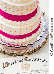 Cake Marriage Certificate