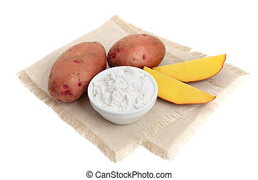 Starch potato isolated.