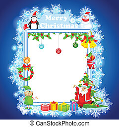 Santa Claus wishing Merry Christmas - easy to edit vector...