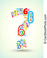 Question mark , colored vector font from numbers - Question...