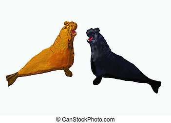 Two elefant seal