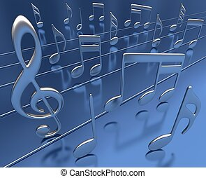 Dance Music - Musical notes dancing