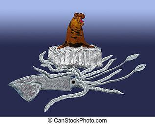 On iceberg