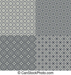 Set of vector seamless pattern - The vector image Set of...