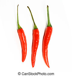 red hot chili pepper isolated on white