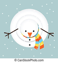 snowman looking up