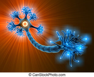 Axon - Concept of neuron system.