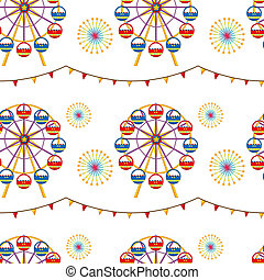 A seamless design with a carnival