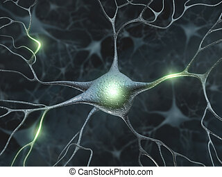 Neurons - Concept of neuron system.