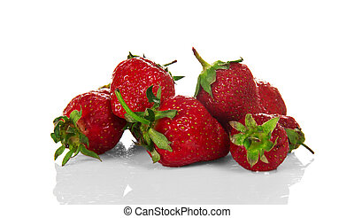 Fresh strawberries - Handful of red fresh strawberries...