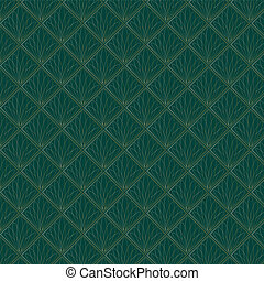 Art Deco Fans Pattern - An Art Deco style background pattern...