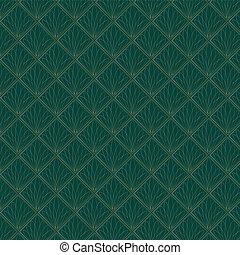 Art Deco Fans Pattern