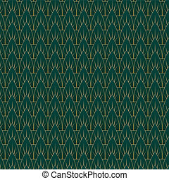 Art Deco Leaves Pattern - An Art Deco style background...