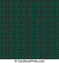 Art Deco Links Pattern - An Art Deco style background...