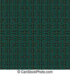 Art Deco Links Pattern