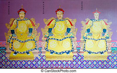 Qing emperor - The three emperor of the Qing Dynasty...