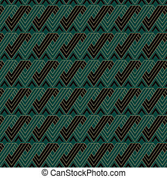 Art Deco Ribbon Pattern - An Art Deco style background...