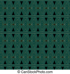 Art Deco Triangle Pattern - An Art Deco style background...