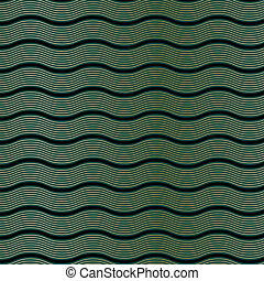 Art Deco Wave Pattern - An Art Deco style background pattern...