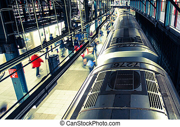 NYC subway - Bustling New York City Subway
