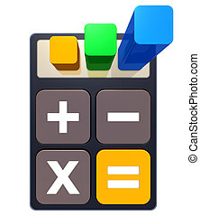 calculator - high resolution 3D rendering of a calculation...