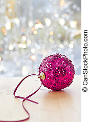 Big, glittery christmas bauble - Big glittery christmas...