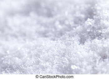 Snow background. Very close-up.