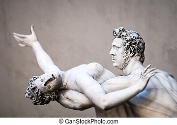 Rape of the Sabine Women - An image of the Rape of the...
