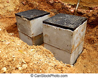 Septic tank inspection hatches - New septic tank inspection...