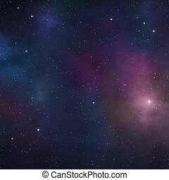 Deep space background - Space background with blue nebulae...