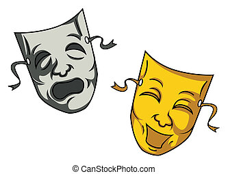 mask cartoon vector illustration