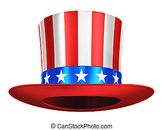 Uncle Sam hat - Creative abstract USA traditional symbol and...