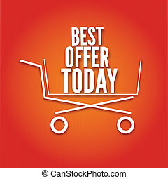 Shopping cart on a bright background, the symbol, with the...
