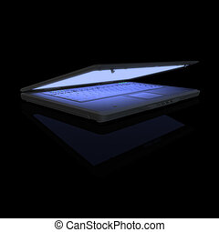 Laptop - Light of LCD Screen.