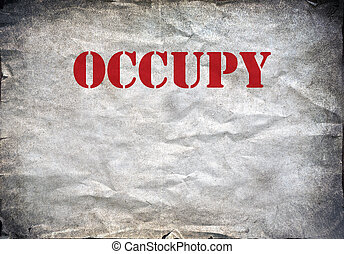 Occupy vintage poster