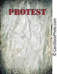 Protest vintage poster