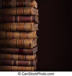 Pile of ancient books