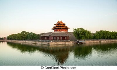 From day to night of Forbidden City in Beijig, China