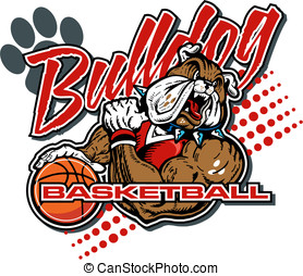 BULLDOG basketball player design
