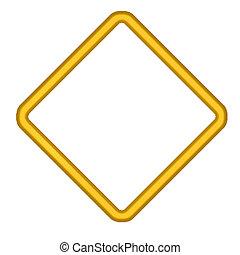 Gold Diamond Shaped Border