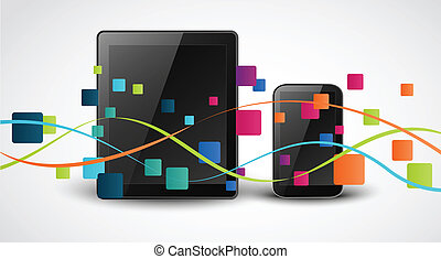 Smartphone apps icon concept - Vector Illustration of...