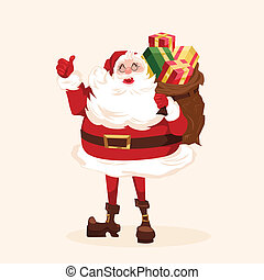 Santa character Cartoon vector illustration