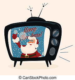 Santa character. Cartoon vector illustration.